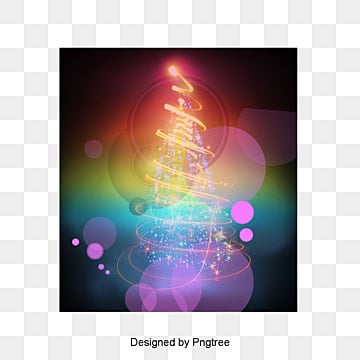 Multicolored gradual vector Christmas tree decorative pattern, Multicolored Gradation, Vector Pattern, Christmas Tree PNG and Vector