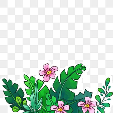 Hand-painted cartoon flowers without button material, Hand, Hand-painted Flowers, Flowers PNG and PSD