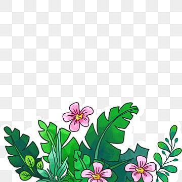 Pintado a mano de flores de dibujos animados sin boton de material, Mano, Pintado A Mano De Flores, Flores PNG y PSD