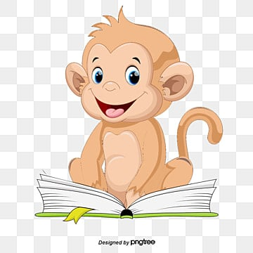 Free Download Reading Monkey Baby Png Images Reading