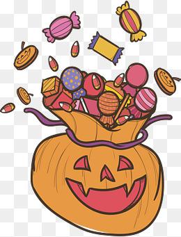 Pumpkin face Candy Bag