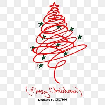 Red Christmas tree, Vector Png, Christmas, Christmas PNG and Vector