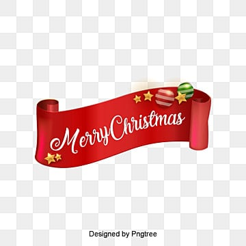 Merry christmas ribbon decoration, Red Ribbon, Christmas, Merry Christmas PNG and PSD