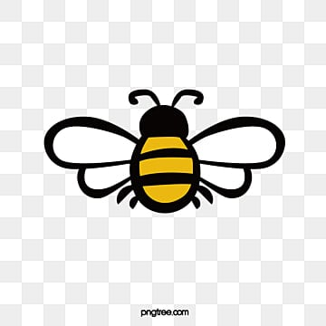 Cartoon Bee Design Animal Flying Wings PNG And Vector