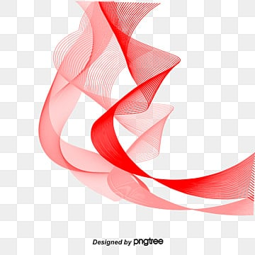 Light floating ribbons, Red, Fashion PNG and PSD