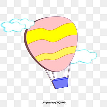 drawn vector cartoon hot air balloon, Painted, Cartoon, Hot Air Balloon PNG and Vector