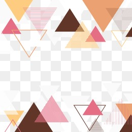 Creative triangle background vector material