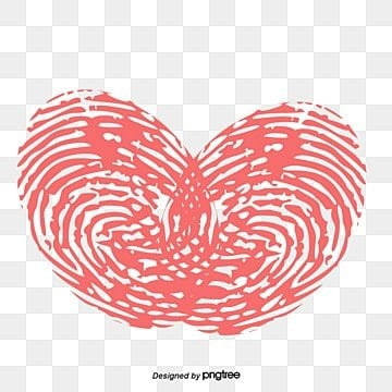 Fingerprint Heart, Valentine's Day, Love, Romantic PNG and Vector