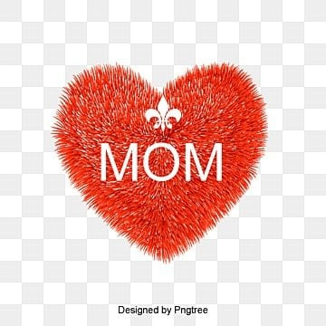 font design mothers day, Red, Heart, Mom PNG and PSD