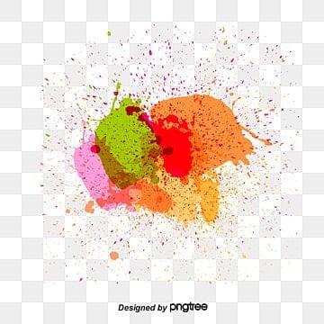 Splatter Paint Colorful