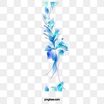 Resumen Fantasticas Flores Azules Resumen Sueno Azul Png Y Vector
