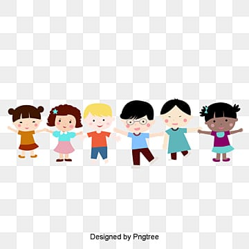 cartoon cute children holding hands happy kidsCartoon  Lovely  Niño PNG Y PSD