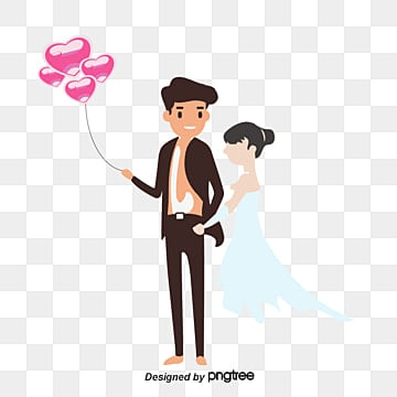Wedding elements, Marry, Wedding, Bride And Groom PNG and Vector