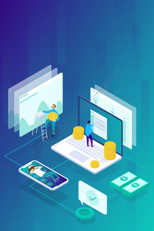 2 5d gradient business financial, Illustration, 2 5d, Gradient llustration image