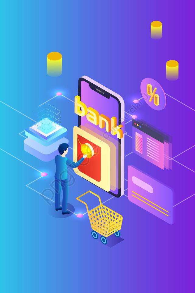 2 5d بنك الهاتف المحمول المالية, الاستهلاك, الظرف الاحمر, مشاهد llustration image