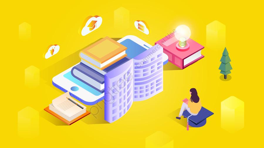 2 5 डी मोबाइल फोन किताबें पढ़ें, जीवन शैली, प्रकाश बल्ब, कैसे पता llustration image