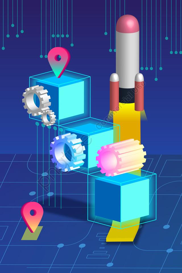 2 5dテクノロジーコンセプトビッグデータ, 手塗り, イラスト, 疑似3次元 llustration image