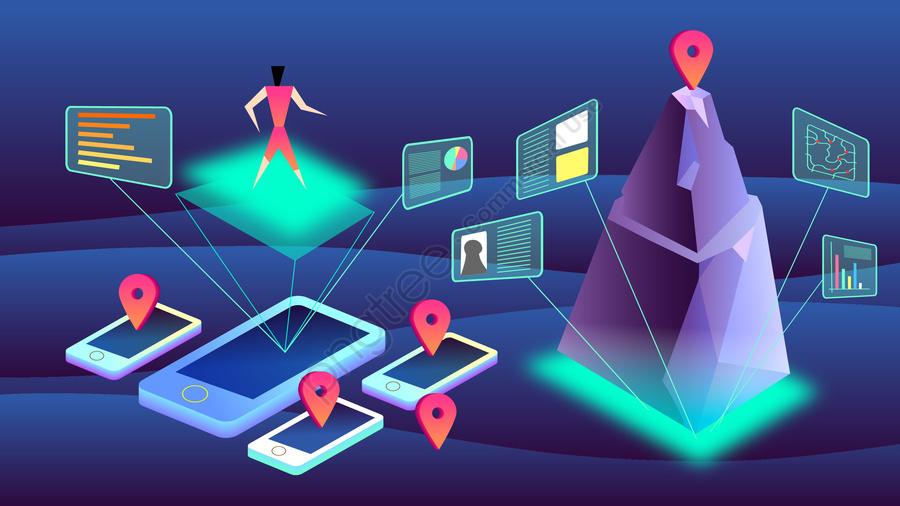 2 5d technology intelligent big data, Information, The Internet, Propagation llustration image