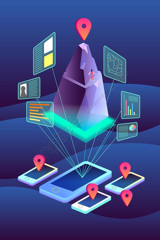 2 5dテクノロジーインテリジェントビッグデータ, インフォメーション, インターネット, 伝播 llustration image