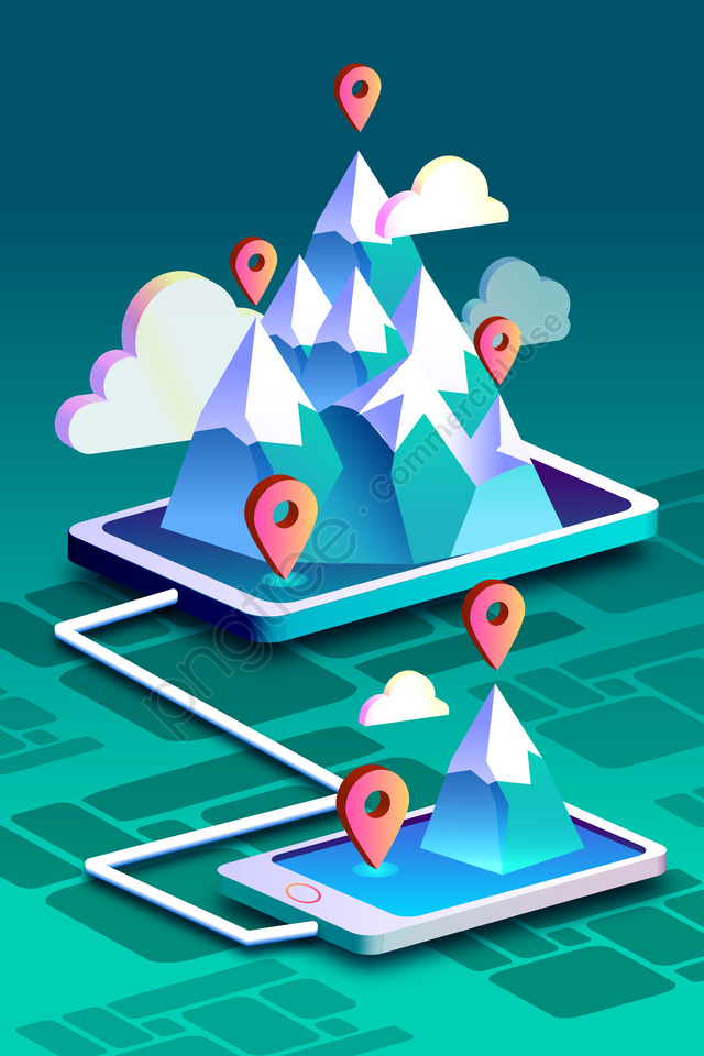 2 5d Technologie Sens Technologique Big Data, Le Positionnement, Linternet, Concept llustration image