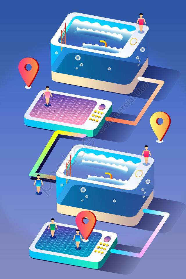 2 5d технология технологический смысл больших данных, позиционирование, интернет, концепция llustration image