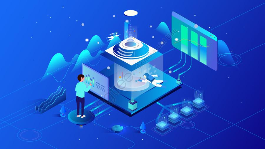 2 5 डी प्रौद्योगिकी ब्रह्मांड भविष्य, डेटा, अवधारणा, व्यापार llustration image