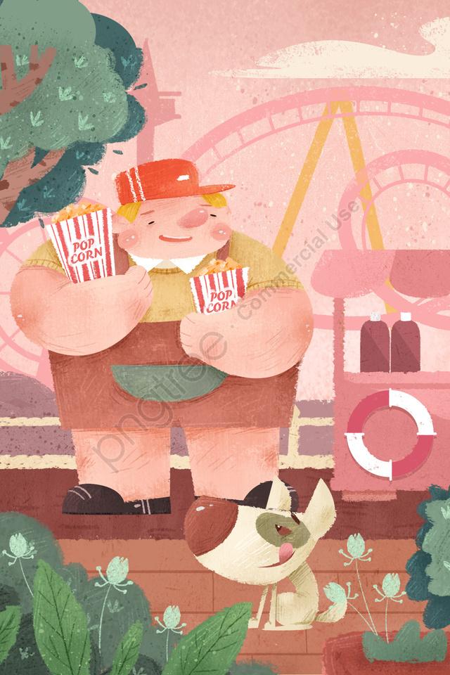61子供の日漫画子供のような子供の日, チャイルド, 文学, 脂肪質の男 llustration image