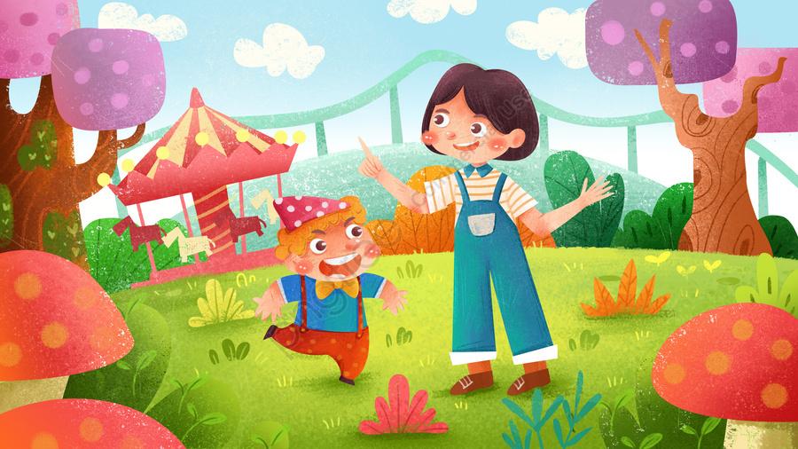 61子供の日漫画子供のような子供の日, チャイルド, 文学, 回転木馬 llustration image