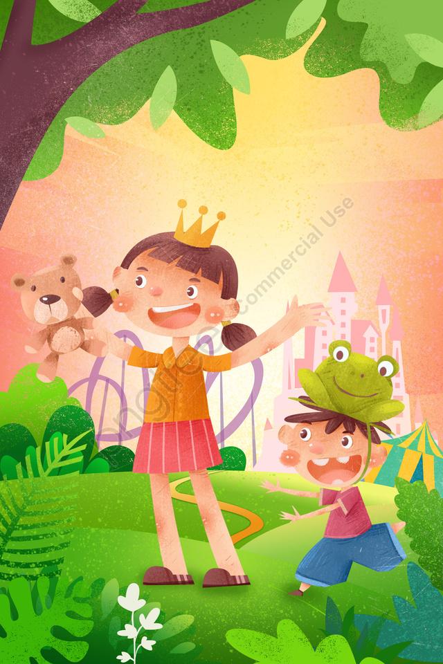 61 Phim Hoạt Hình Ngày Thiếu Nhi, Trẻ Con, Văn Chương, Thiết Kế Minh Họa llustration image