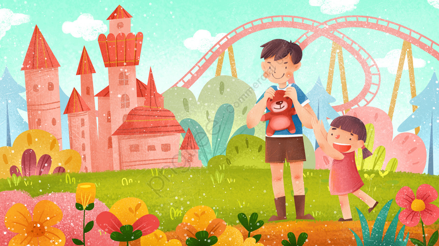 61子供の日漫画子供のような子供の日, チャイルド, 文学, 設計図 llustration image