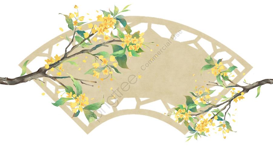 古代の花絵水彩ブルーム古典的な, エレガント, オスマン, 古代 llustration image