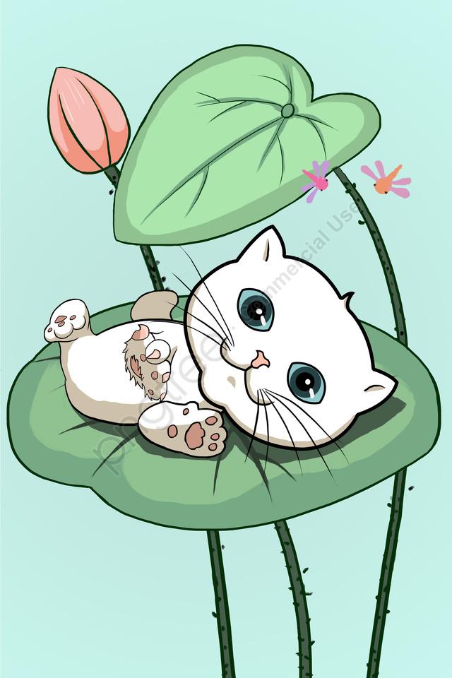 Animal Cat Lovely Cute Pet, Cute, Cat, Fresh llustration image