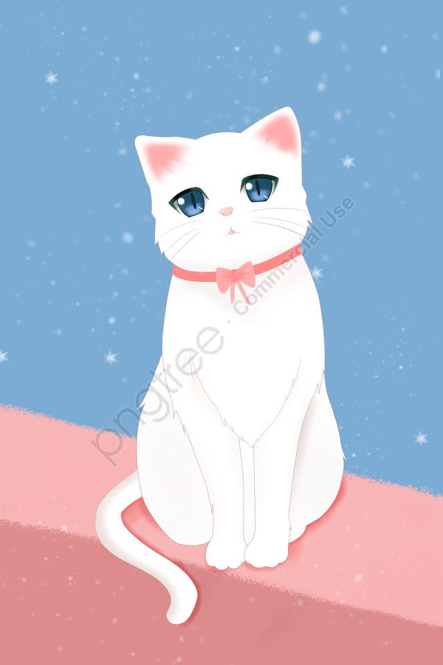 animal illustration cute pet hand painted, Japanese, Healing, Beautiful llustration image