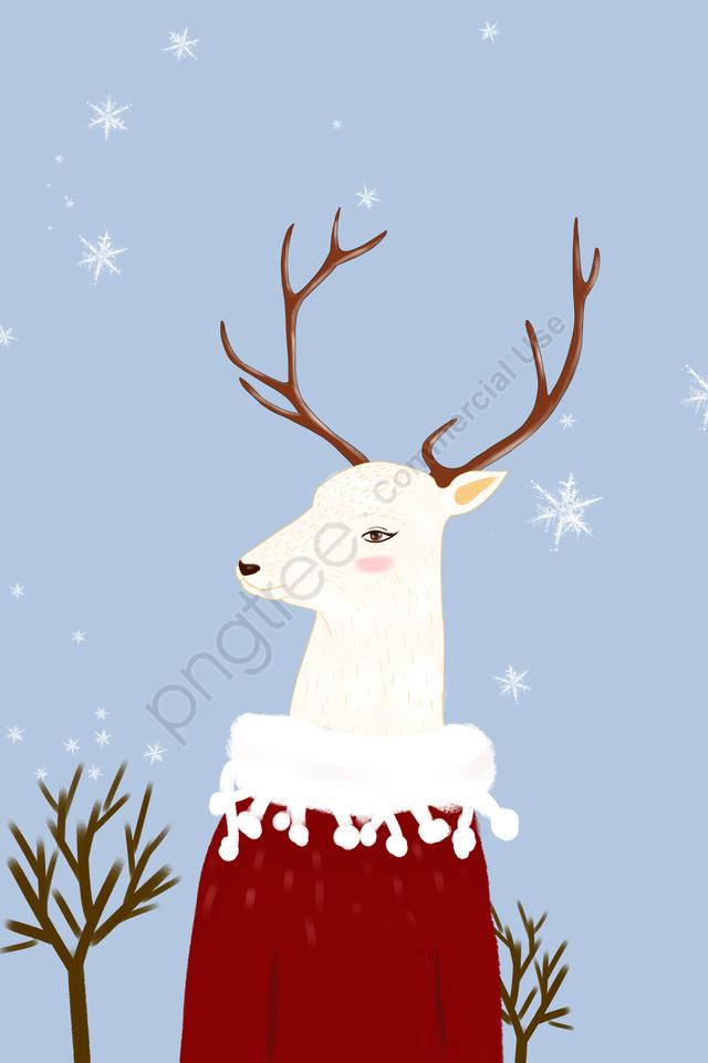 Animal Ilustração Cute Pet Miss Deer, A Cura, Japonês, Linda llustration image