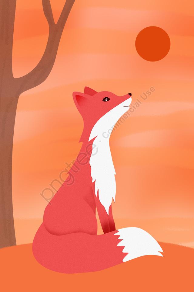 Animais Selvagens Animais Nacionais Protegidos Animais Raposa Vermelha, Fox, Firefox, Red Fox llustration image