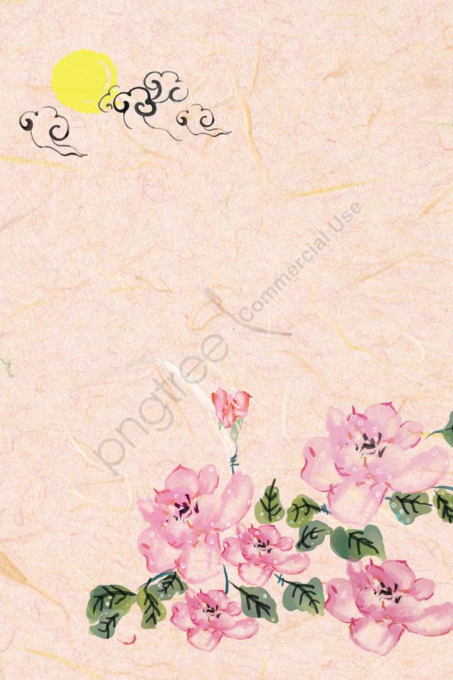 古代インク淡色伝統的な中国絵画, フラワーズ, バラ, 植物 llustration image