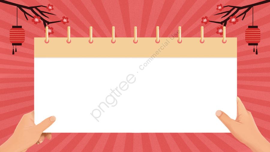 古代春祭りカレンダーバナー, 手塗り, コーラルオレンジ, カレンダー llustration image