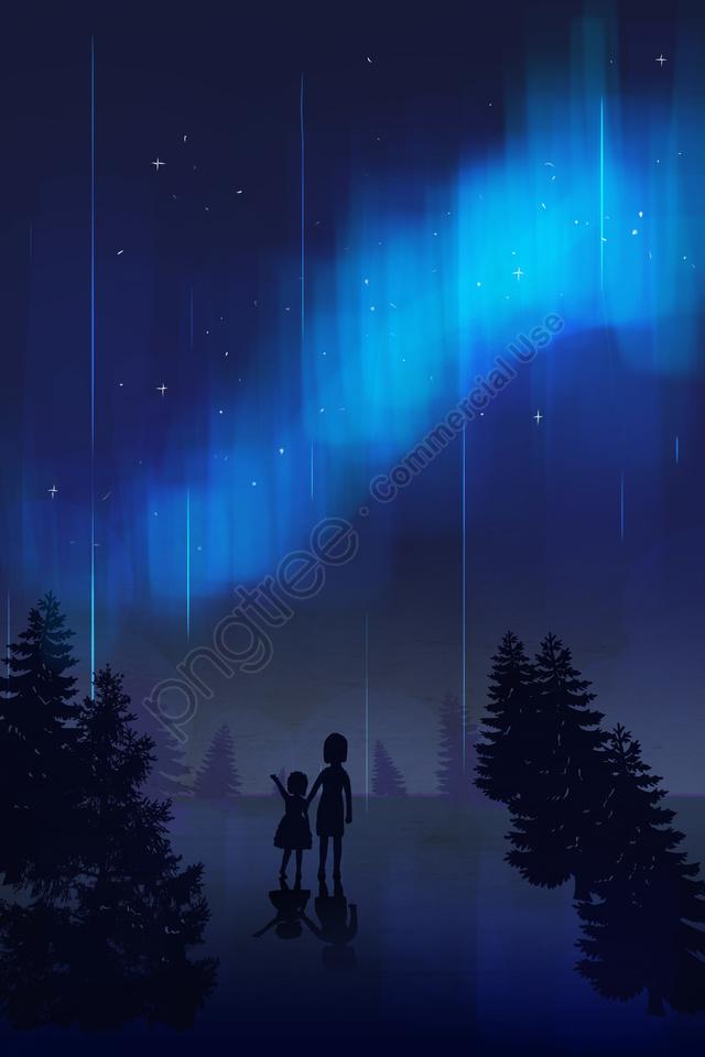 8月8月八月你好, 夏天, 極光, 北極的 llustration image