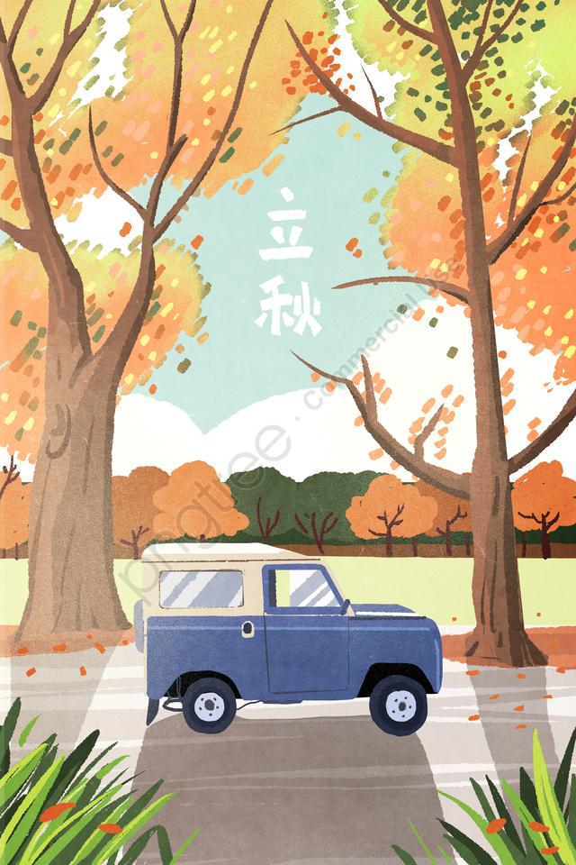 Autumn Fall Autumn Autumn Day, Beginning Of Autumn, Solar Terms, Landscape llustration image
