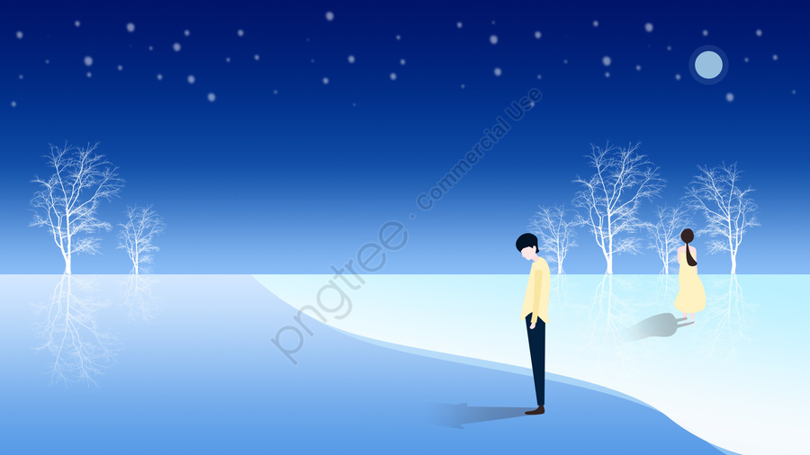 beautiful romantic ocean sea, Night, Starry Sky, Moon llustration image