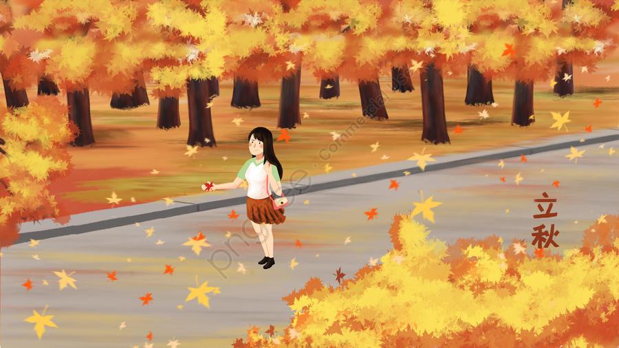 beginning of autumn fall autumn leaves leaf, Ngữ, Minh, Họa llustration image
