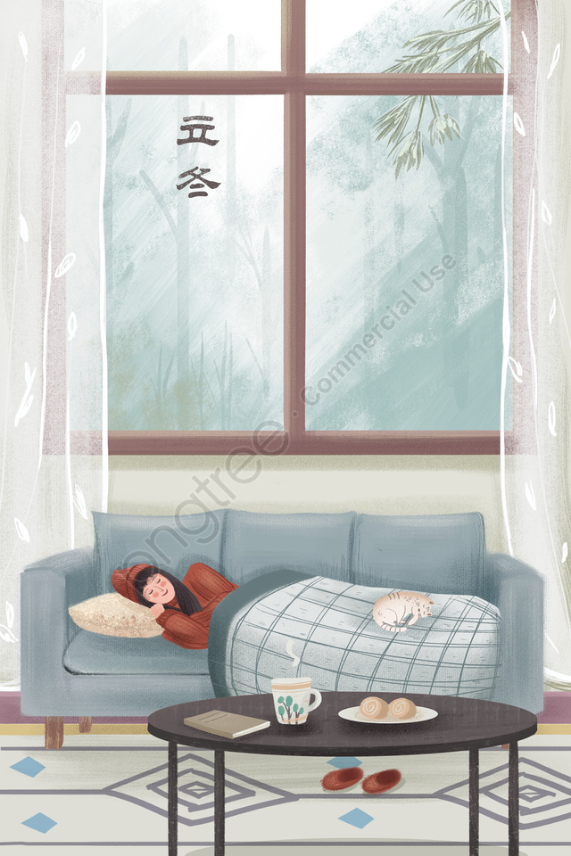 beginning of winter home coffee bread, Solar Terms, Character, Leisure llustration image