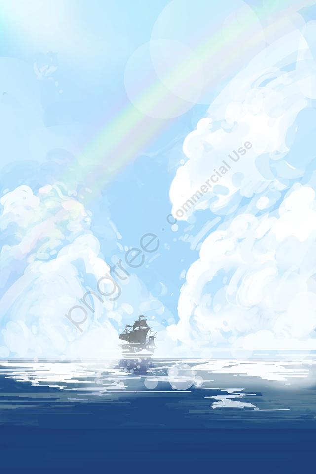 المحيط واسع المحيط طبقة سطح سحابة البحر, سحاب, محيط واسع, المحيط llustration image