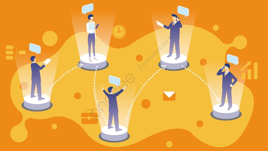 ビジネスコミュニケーション情報, インターネット, テクノロジー, チーム llustration image