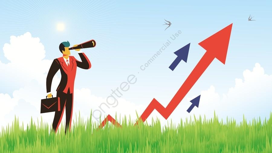 ビジネス金融矢印検査, グリーンスペース, 太陽, Is llustration image