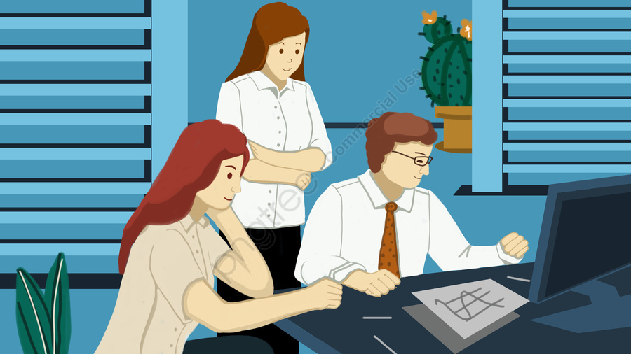 Business Financial Office Workplace, White Collar, Office, Go To Work llustration image
