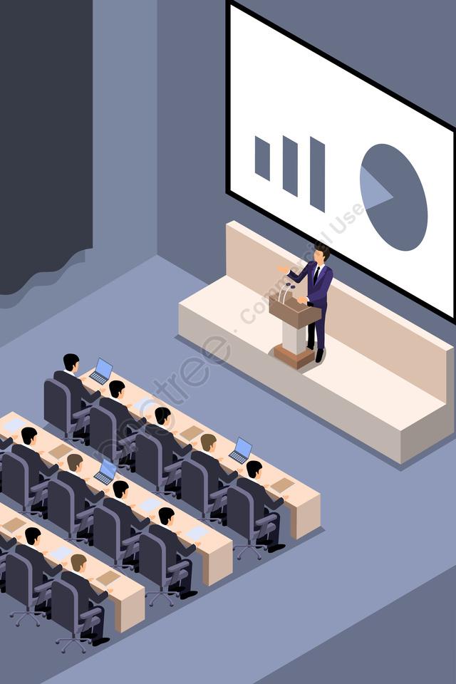 व्यापार बैठक बैठक भाषण, बात, कंप्यूटर, नोट llustration image