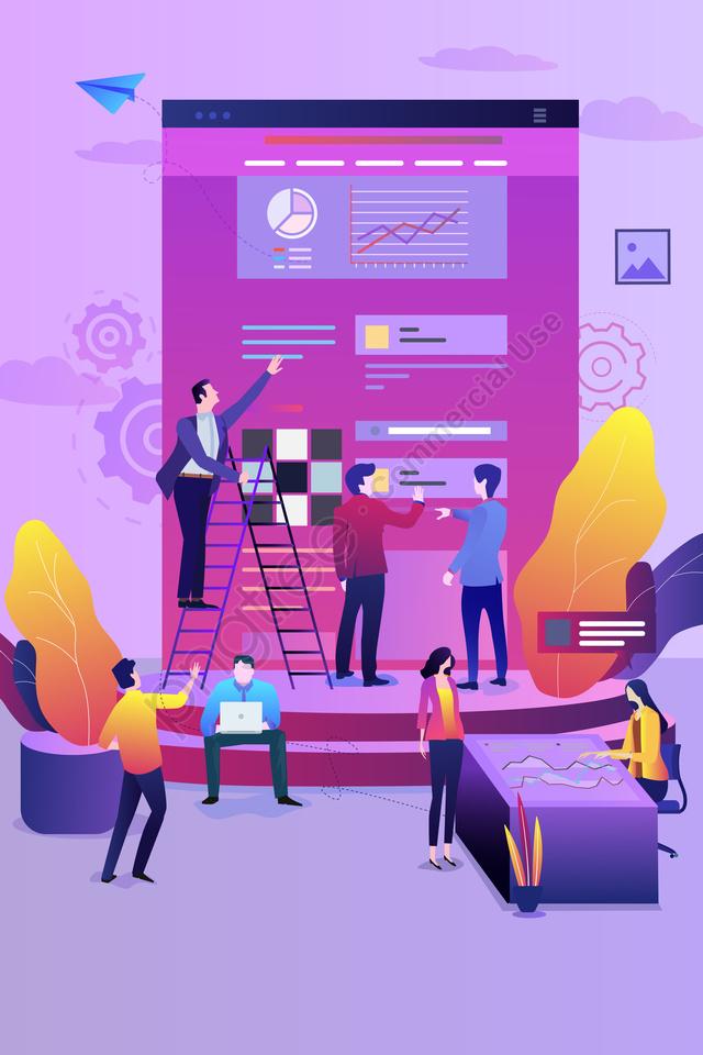 व्यापार बैठक कार्यालय चित्रण, गुलाबी, डेटा, प्रभावशीलता llustration image