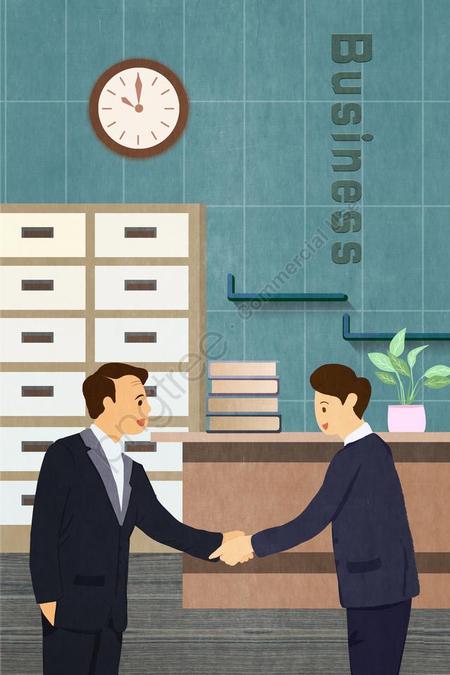 営業所連携交渉, ビジネス, オフィス, 協力 llustration image