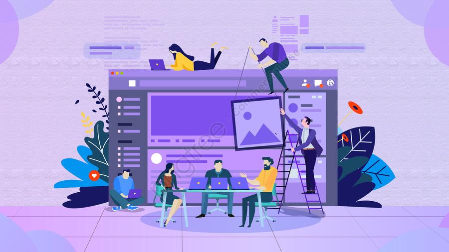 Ilustracja Spotkanie Biura Biznesowego, Przedyskutować, Dane, Wygodne llustration image